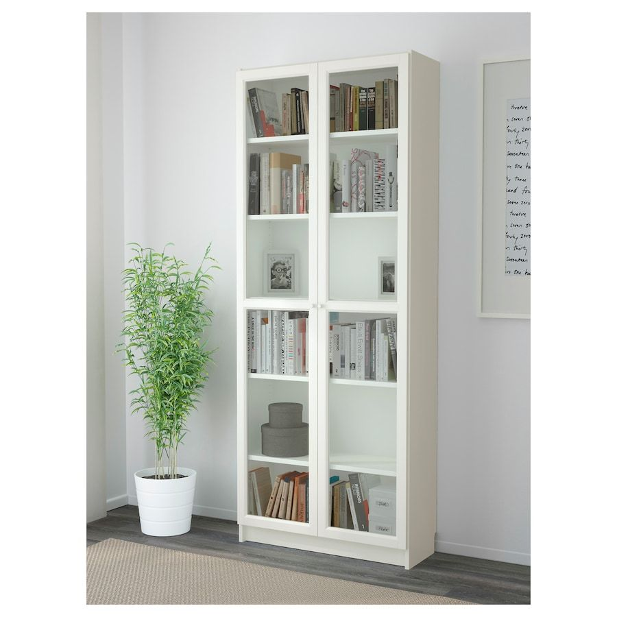 Billy Oxberg Bookcase White 31 1 2x11 3 4x79 1 2 Bookcase
