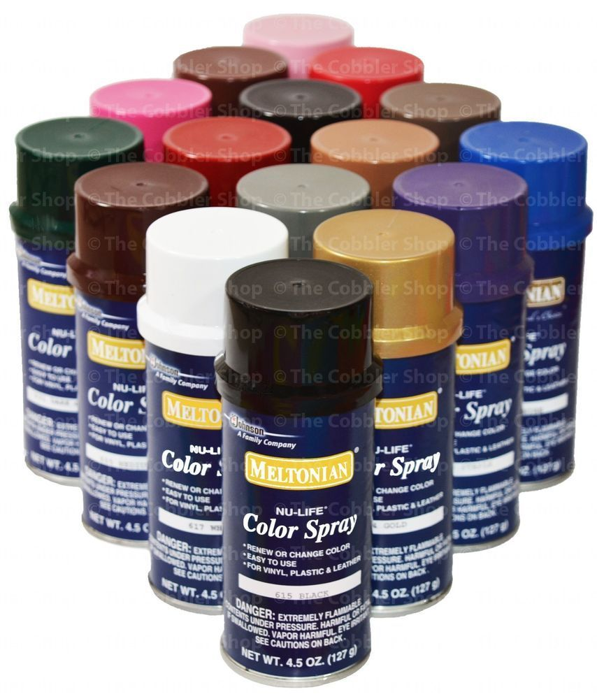 Brillo Color Spray Leather Vinyl Paint Dye 4 5 Oz All 55 Colors Always Fresh Vinyl Painted Color Spray Painting Leather
