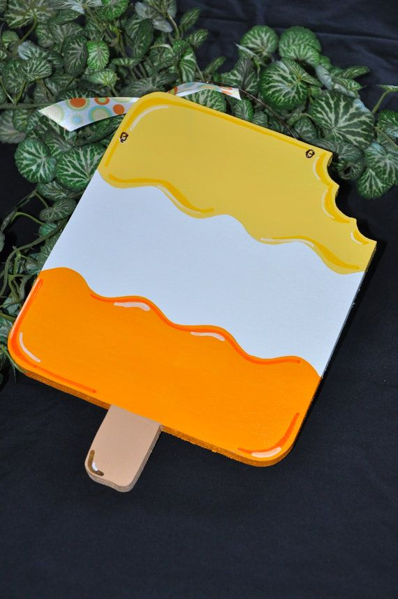 Wood and Paint Summer Popsicle Door Hanger by PrimitiveWoodNGiggle
