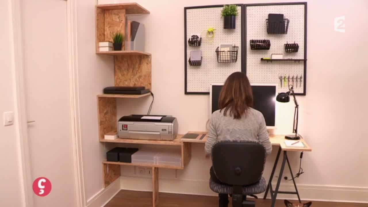 D Co Un Bureau Sur Mesure Ccvb Video Ccvb Diy Pinterest  # Meuble Bureau Sur Mesure