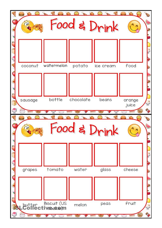 FOOD BINGO CONCENTRATION GAME Board game Pinterest