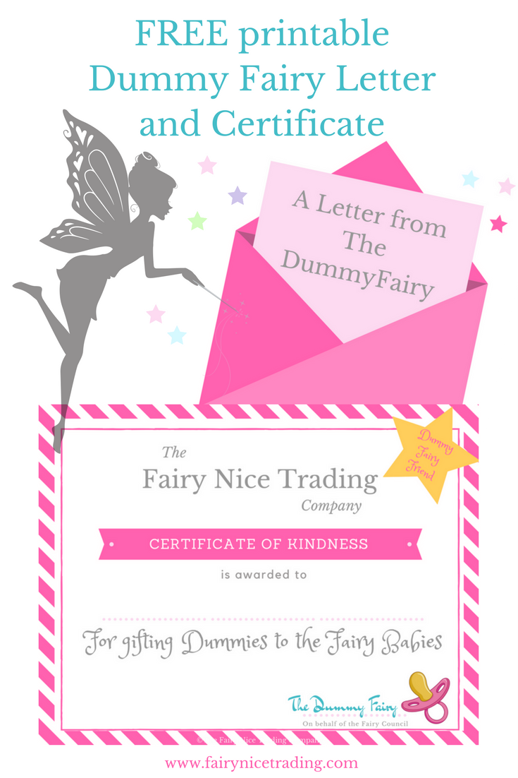 Free printable dummy fairy letter and printable dummy for Fairy letters
