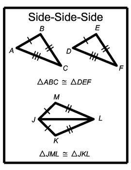 Free Downloads Triangle Congruence Posters Sss Sas Asa Aas Hl Triangle Sas Sss