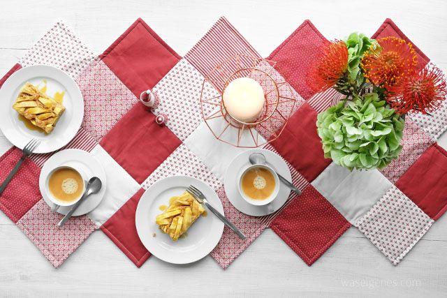 Nähanleitung: Zickzack Tischläufer. | Nähen Sewing | Pinterest ...