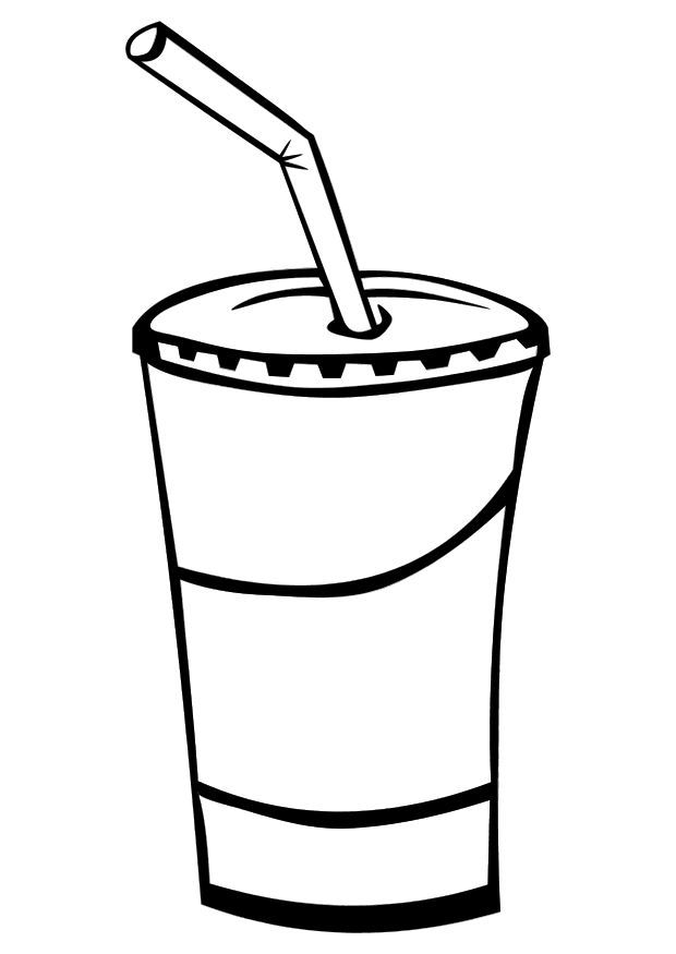 Drink Coloring Pages Soda Cup Coloring Pages