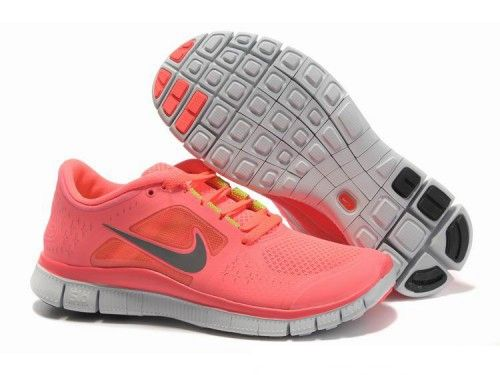 best sneakers 10db0 62fdc ireland womens nike free run 3 running shoes coral pink grey for when a30a4  777cc