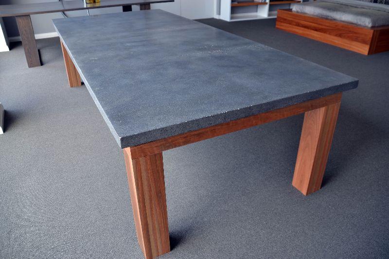 2900mm X 1300mm X 50mm Concrete Top Will Seat 12 People, Timber Legs U0026  Castors · Dining Table LegsPatio ...