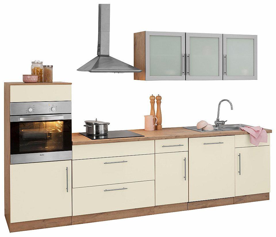 Küchenzeile »Aachen«, mit EGeräten, Breite 300 cm Jetzt