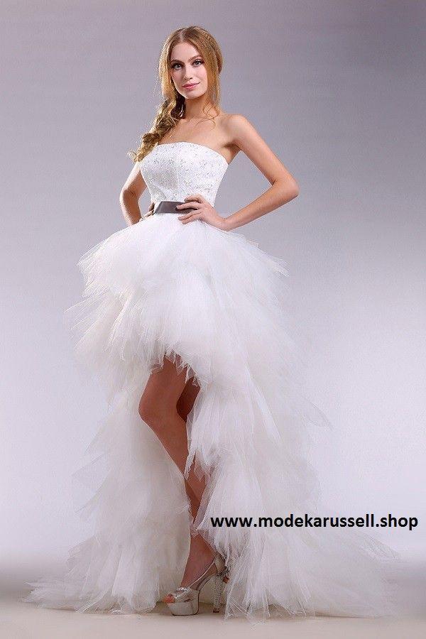 Vokuhila Abendkleid Sunna in Weiß | Tulle dress, Chiffon ...