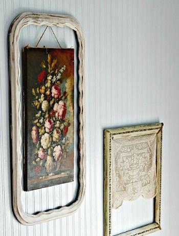 10 Creative Repurposed Picture Frame Ideas Frames On Wall Picture Frames Diy Picture Frames