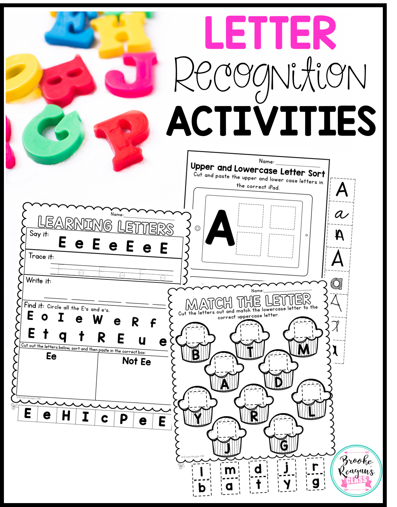 Letter Recognition Upper And Lowercase Activities For