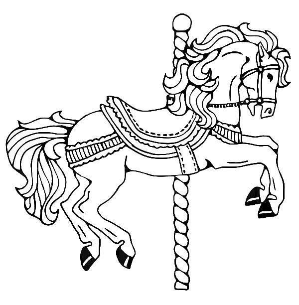 Pin By Wanda Twellman On Carousel Horses Horse Coloring Pages Horse Coloring Carousel Horse Tattoos