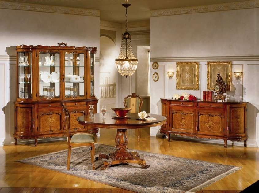 Sala da pranzo stile veneziano - Sala da pranzo classica
