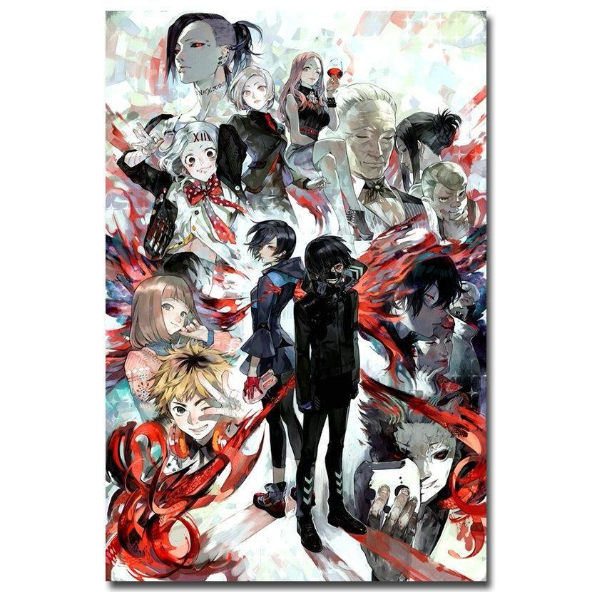 Visit to Buy] NICOLESHENTING Tokyo Ghoul Anime Art Silk Poster 12x18 ...