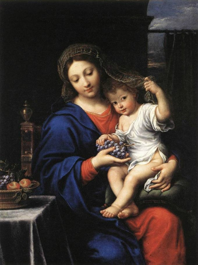 The Virgin of the Grapes by Mignard  / La Virgen de las Uvas de Mignard