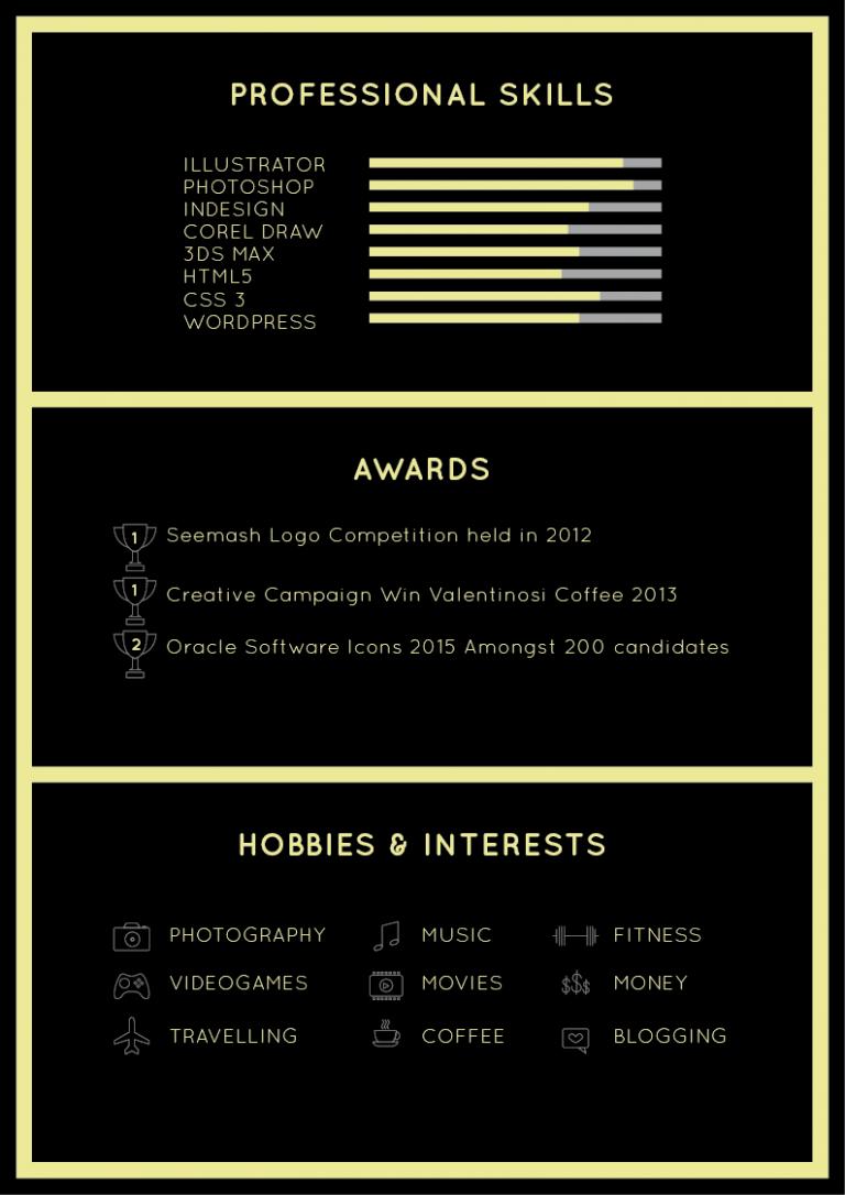 Free Black Elegant Resume Cv Design Template Cv Design Template Resume Design Creative Cv Design