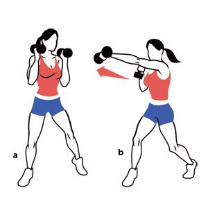 Image result for cross punch with weight