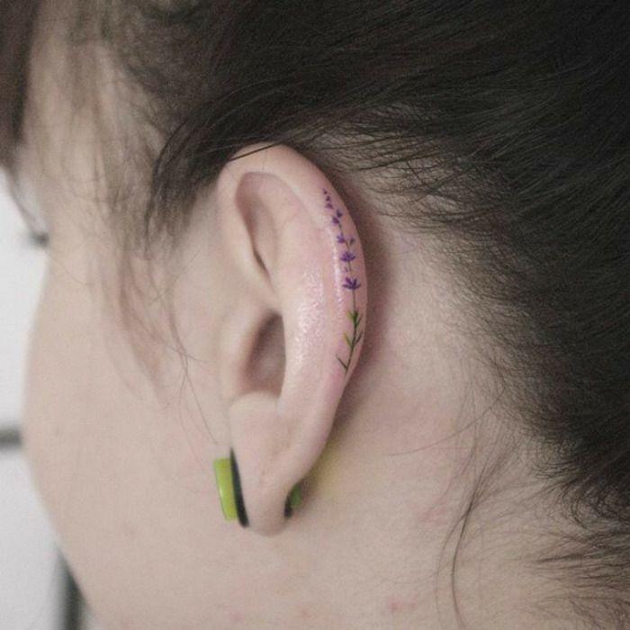 ▷55+ des meilleures idées tatouage oreille et sa signification