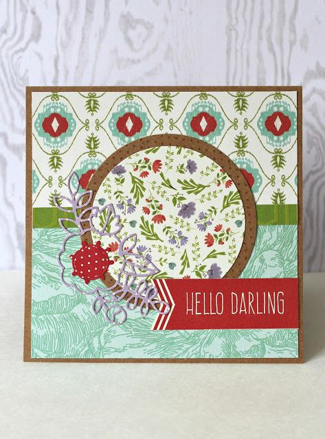 @kissinkrafts has done it again with another beautiful card for our #stackaholic challenge! Come see how she worked her magic on the Garden Charm stack (prints are currently available at @joannstores). #card #challenge #sketch #circle #sentiment