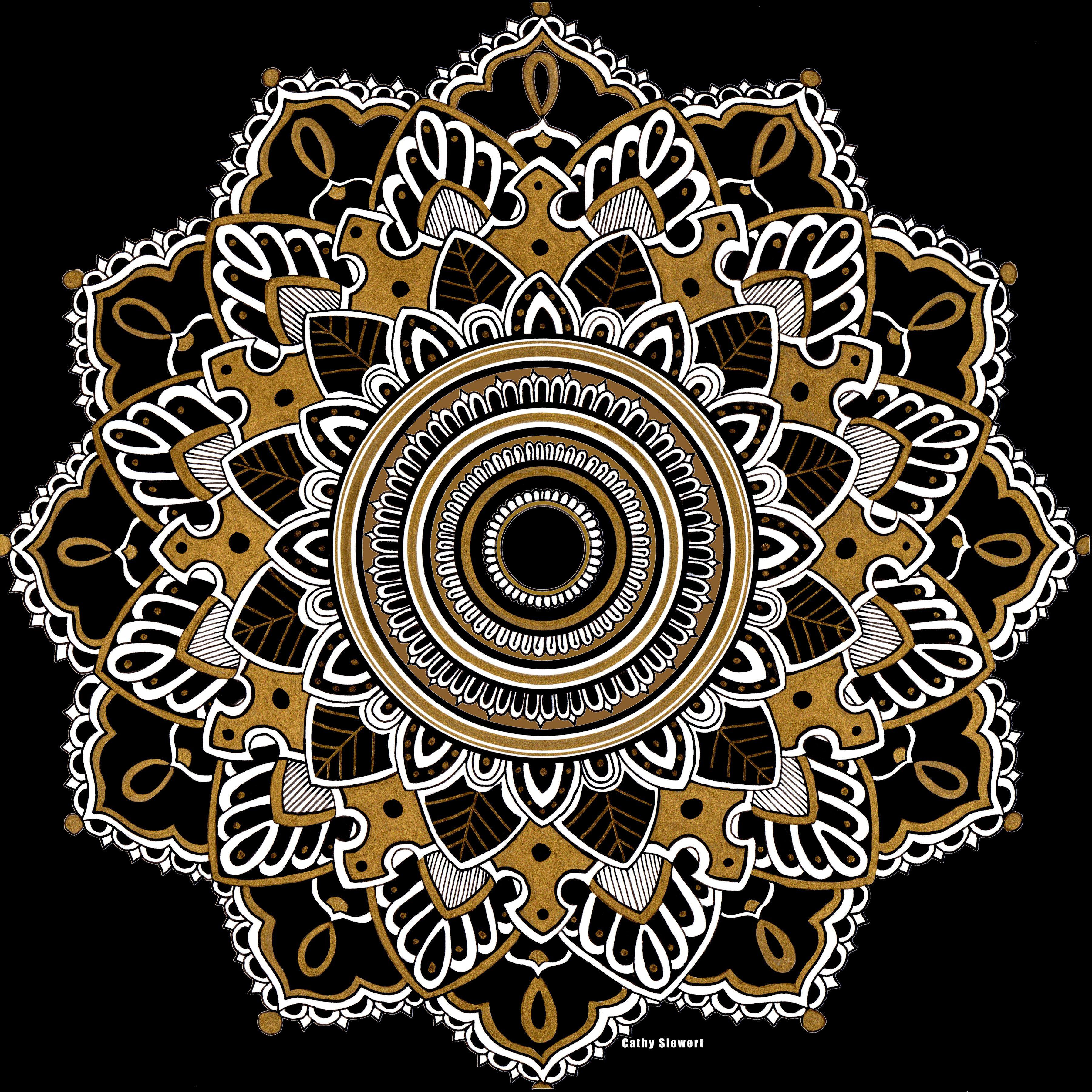 Gold and white Mandala Mandala, Mandala design, Sacred