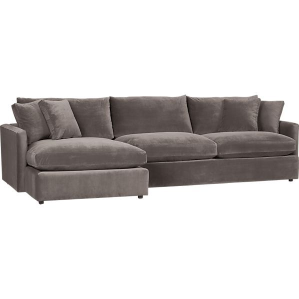 I Found My Sofa Lounge Sectional In Otter 2 Piece Sofas Crate And Barrel