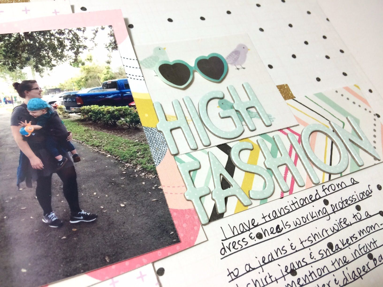 Scrapbook Process: High Fashion