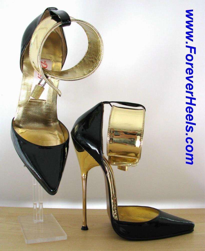 foreverheels style a pumps vwl 5cm ankle straps black pu. Black Bedroom Furniture Sets. Home Design Ideas