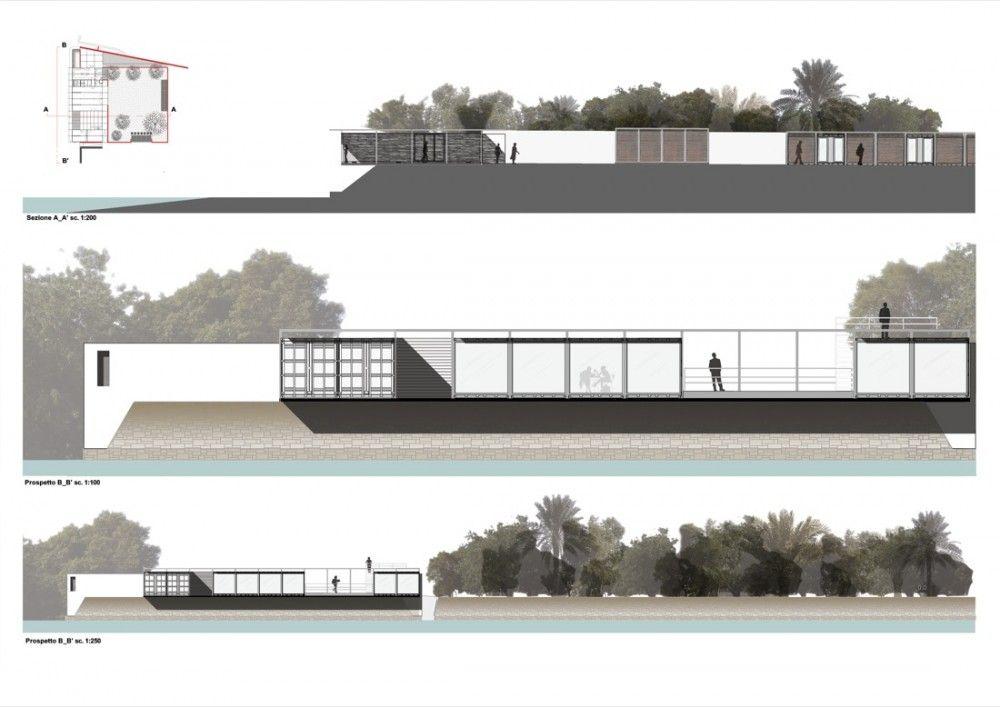 Elevaciones en arquitectura dibujo pinterest plantas for Cortes arquitectonicos