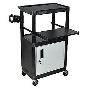 Another cart but with a locking cabinet. Spool storage for 3D ...