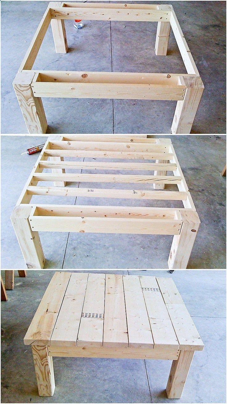 Table from pallet wood | I want | Pinterest | Tisch, Holz und Möbel