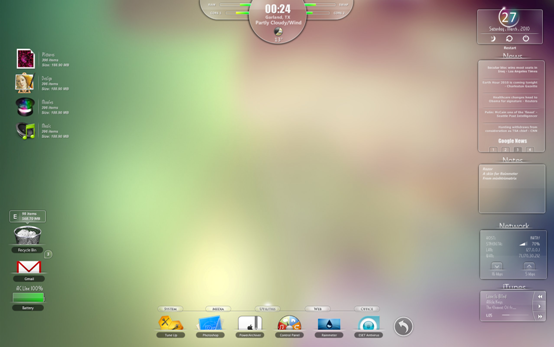 Best Rainmeter Themes / Skins Collection 2011 Theme