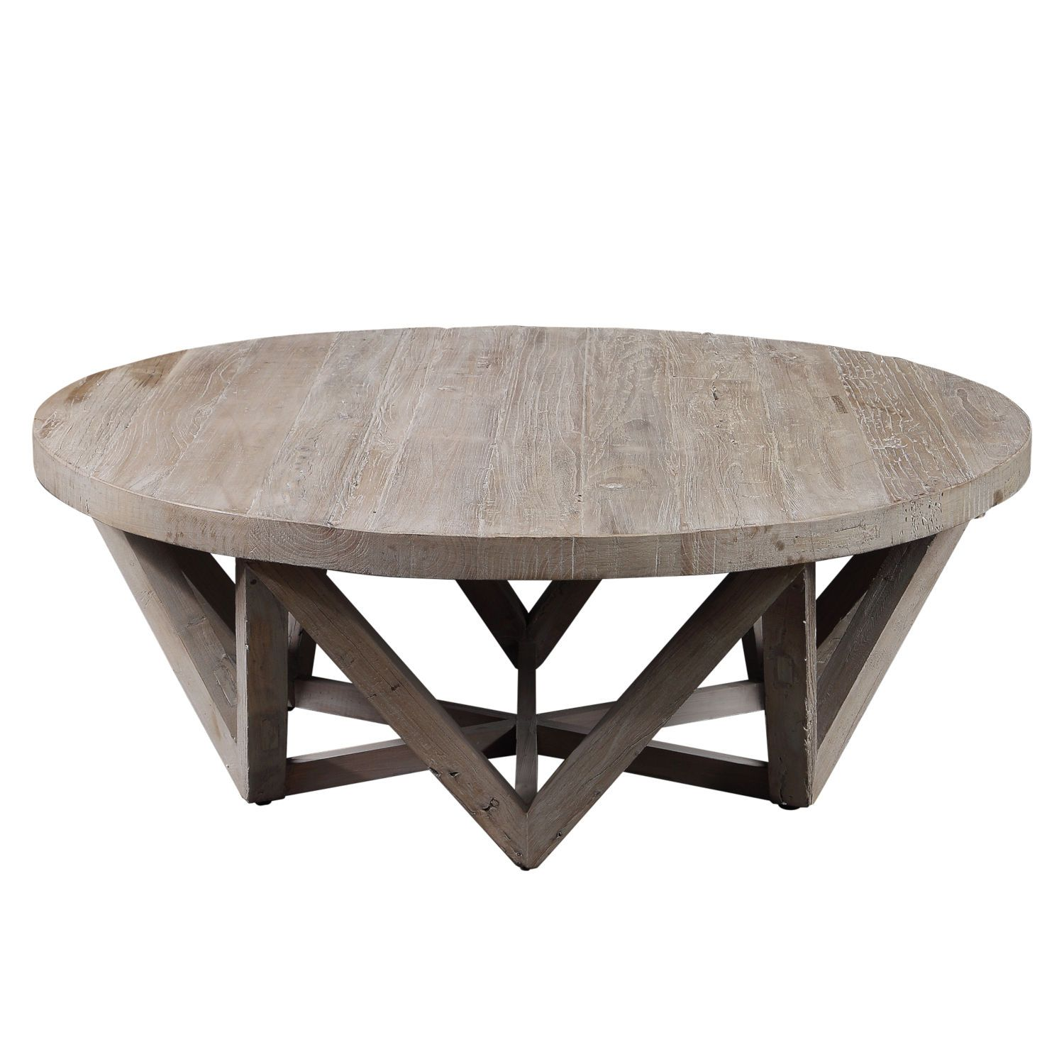 Uttermost Kendry Wood 48 Inch Round Coffee Table 24928 In 2020