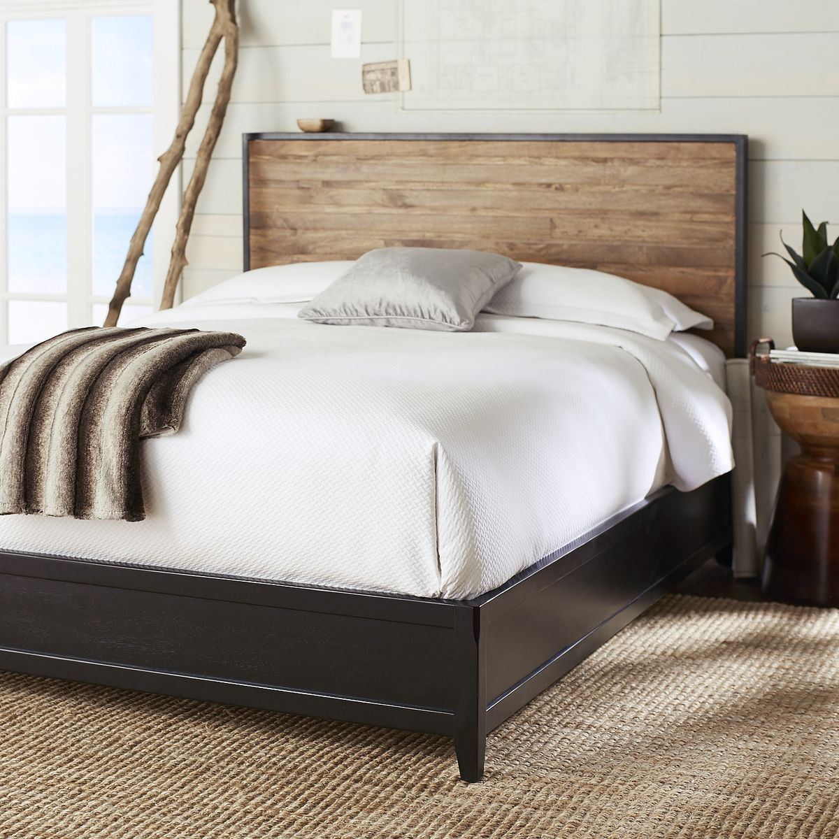 Blake Queen Bed Frame Rubbed Black Pier 1 Imports Queen Bed