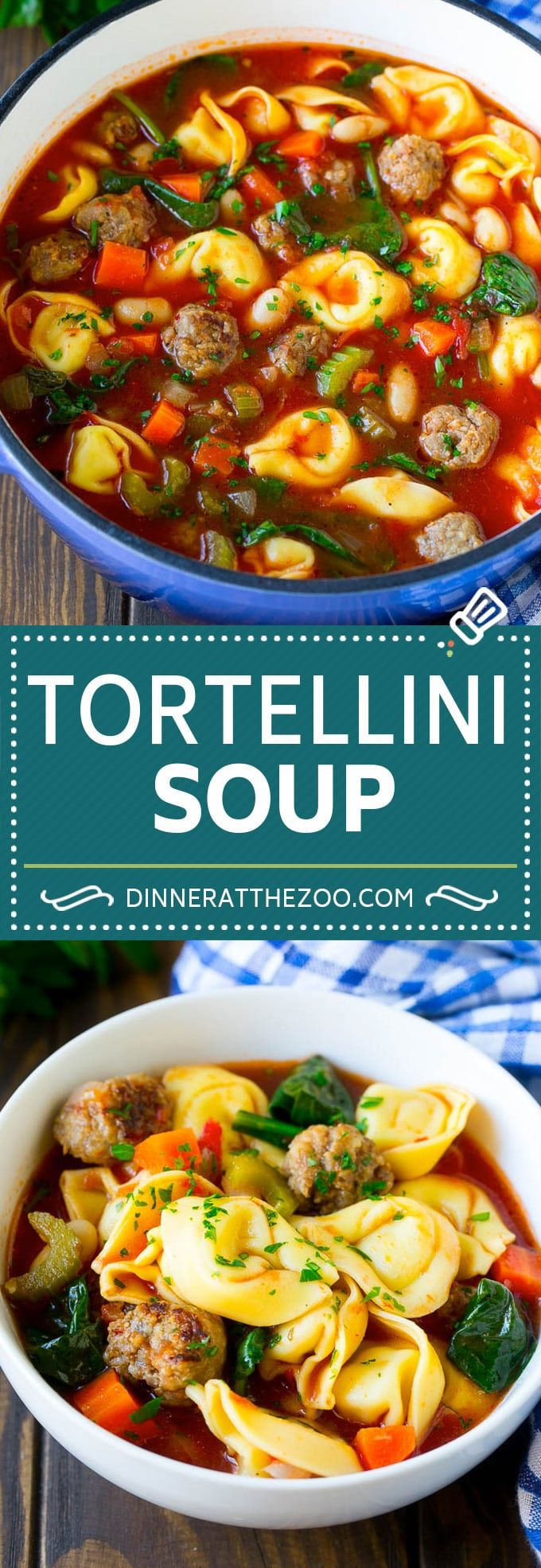 Tortellini Soup with Sausage - Dinner at the Zoo