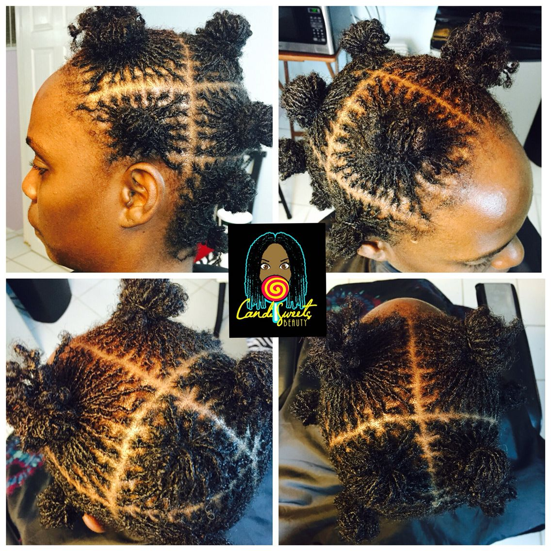 Here S A New Install Done November 5 6 On 4 5 Inches Of Natural Hair She Ended Up With 447 I Love Her Grid Because She Ha Natural Hair Styles Sisterlocks Hair