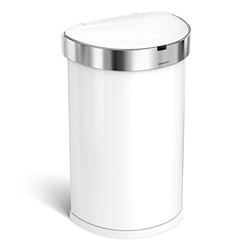 White Automatic Kitchen Bin
