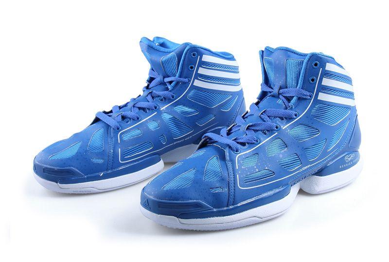 Adidas AdiZero Crazy Light Sharp Blue White � White LightWhite PLight  BlueBlue SneakersDerrick RoseNba ...