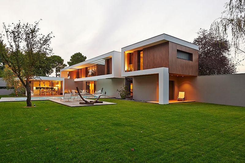 Superbe villa contemporaine, sa piscine et son jardin en Gironde France