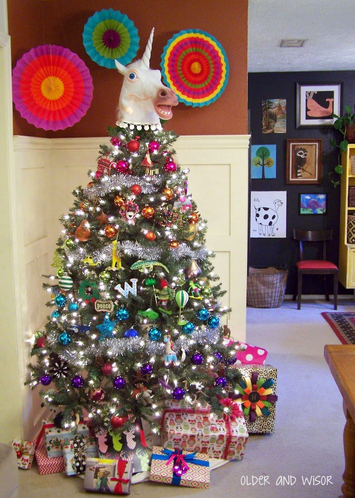 Older And Wisor A Unicorn Christmas Tree They Don T Believe In You