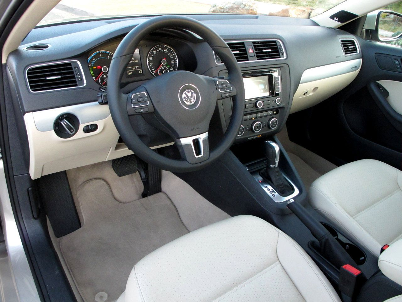 Interior Black Jetta Tdi 2017 Volkswagen Hybrid Test Drive And Review