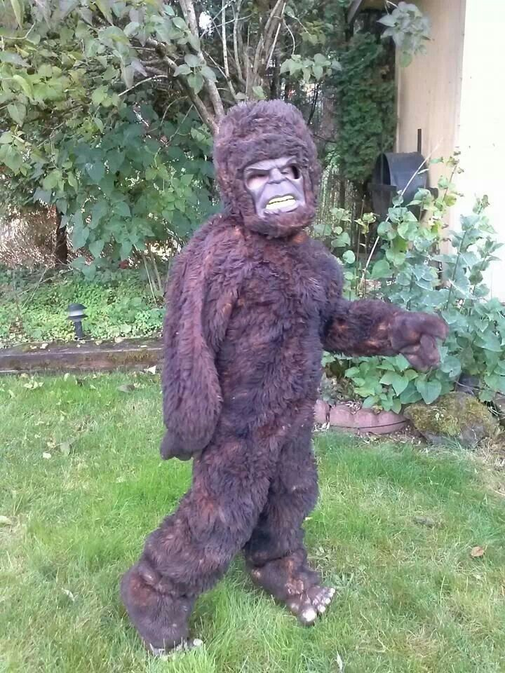 My attempt at a bigfoot costume!! My 8 year old LOVES it! ) I - 1 year old halloween costume ideas