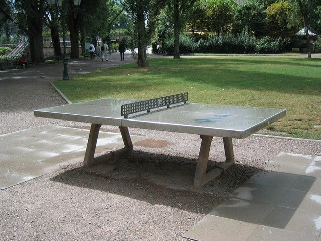 Marvelous Concrete Ping Pong Table For Outdoors.