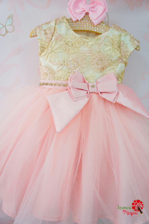 0abc42d96e0 Vestido de Festa Infantil Princesa Luxo Petit Cherie