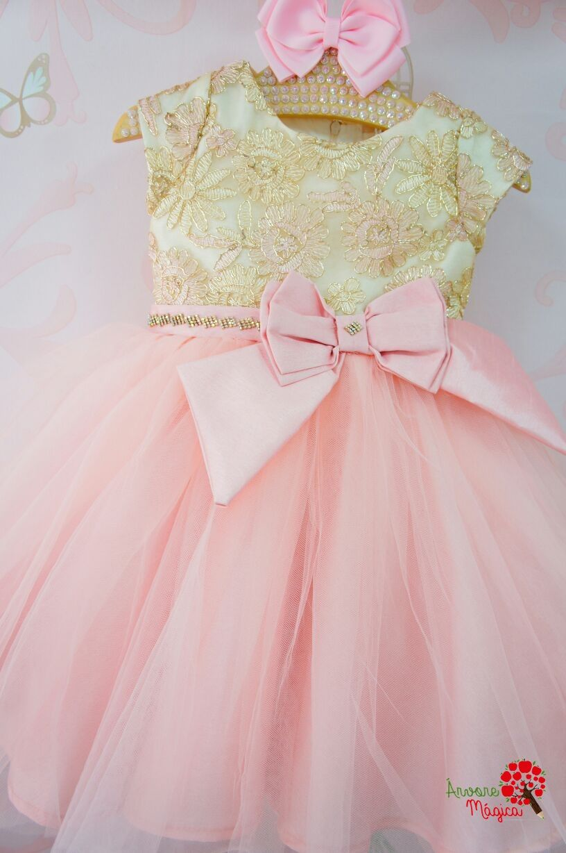 505911fbd5 Vestido de Festa Infantil Princesa Luxo Petit Cherie