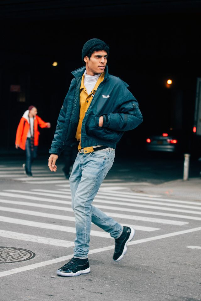 e5e87daa26 Mens Cold Weather Style - Outfit - yes or no  See the best looks spotted by  Melodie Jeng between shows this Menswear week in New York.