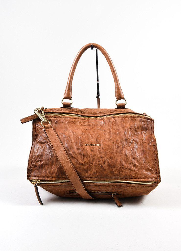 b318dab127a Tan Givenchy Distressed Leather Crossbody