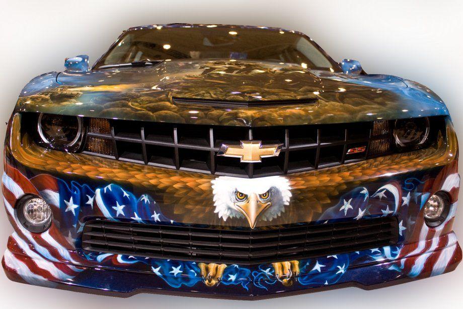 Amazing paint job on this Camaro