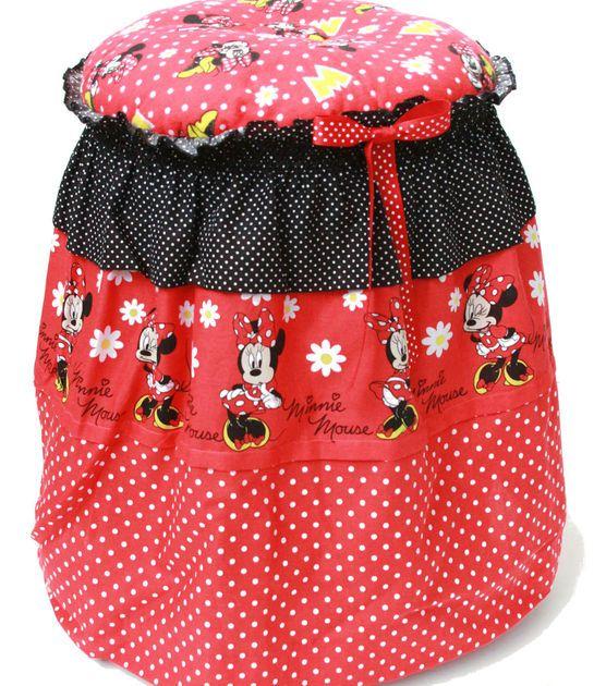 Sew Cute Love This Diy Minnie Mouse Vanity Stool Sew