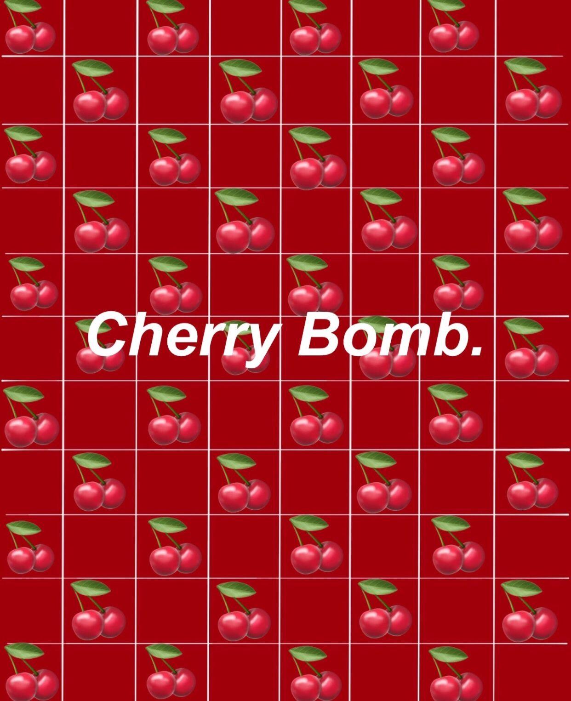 Cherry Red Wallpaper Edit Wallpaper Emoji Graph Cute Red Aesthetic Aesthetic Tumblr Backgrounds Cute Wallpaper For Phone