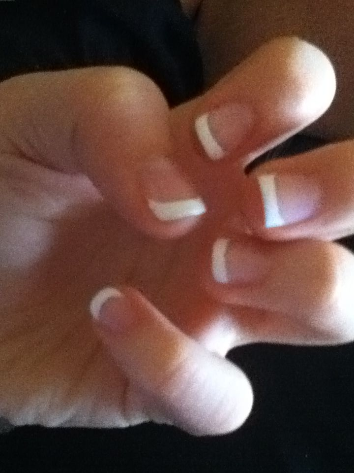 Perfect french tip for kids painted on 5$   beauty and nails   Pinterest